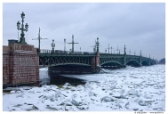 Санкт-Петербург. Река Нева. Троицкий мост.