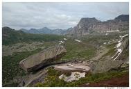 Западный Саян. Ергаки. Висячий камень. Вид на скалу Спящий Саян.